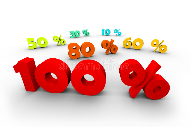Download 100 percent first stock illustration. Image of payment - 7694046