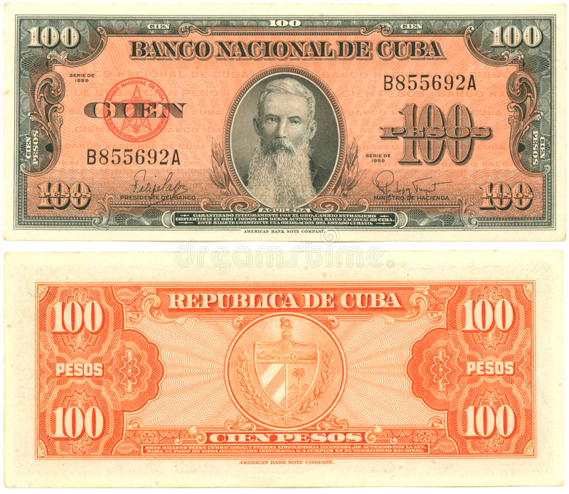 100 pesos cubains photos stock