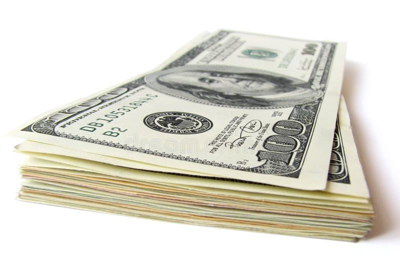 100 plik banknotów zdjęcie royalty free
