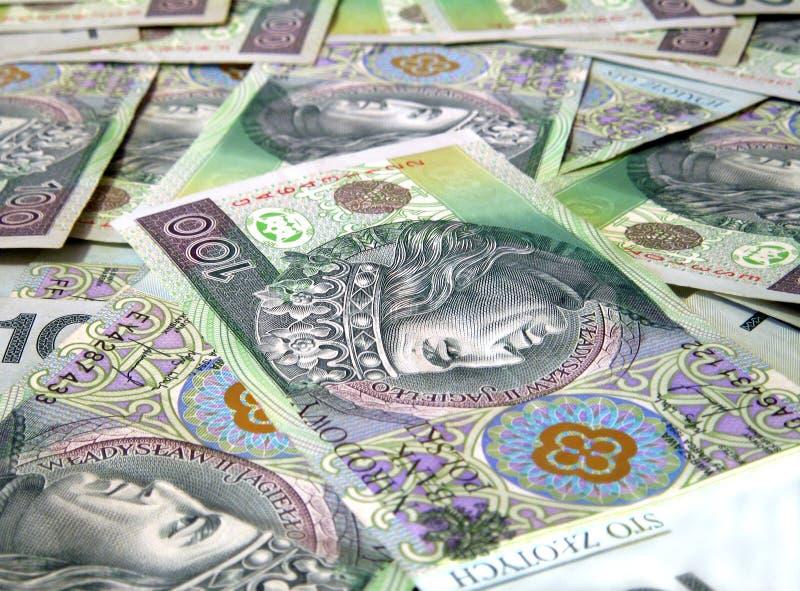 100 PLN/rekeningen Zloty stock afbeelding