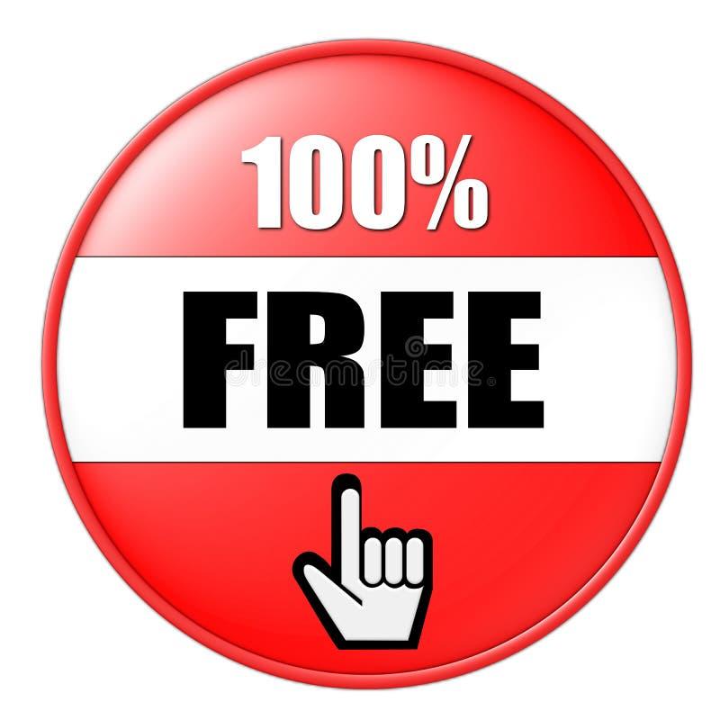 100 por cento livram ilustração royalty free