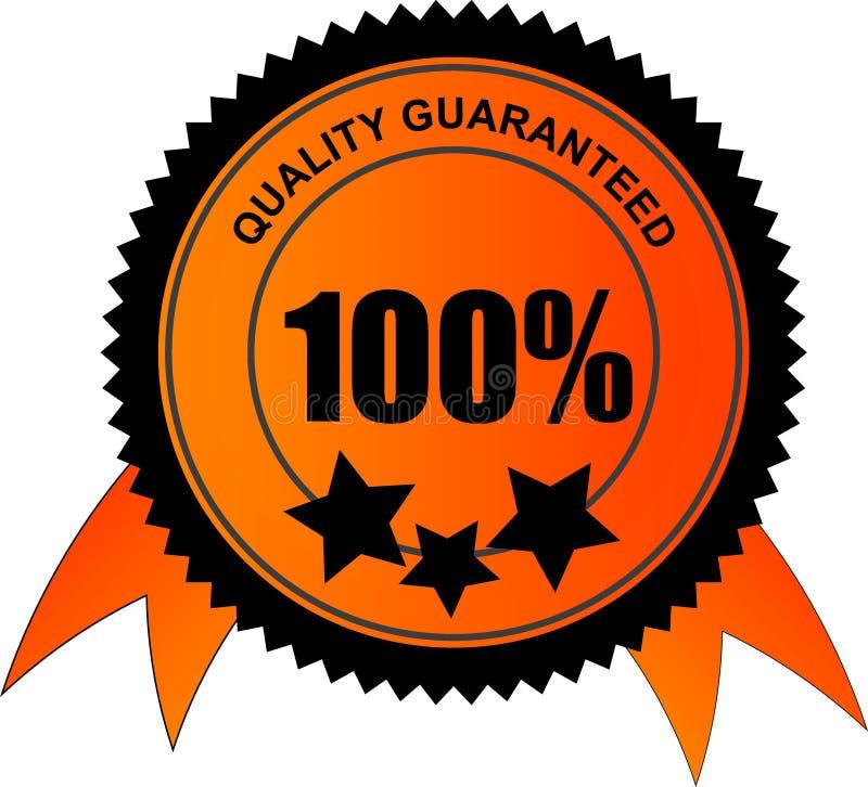 100 pour cent de qualité garantie illustration stock