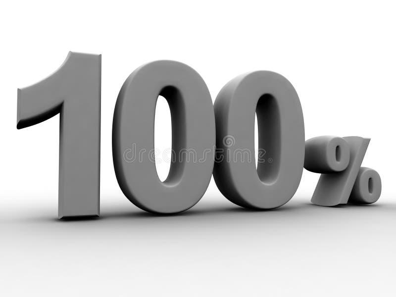 100 Procent Royaltyfri Bild