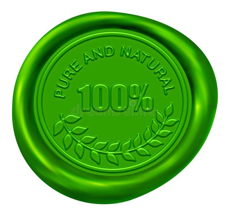 Free 100 Pure & Natural Wax Seal Royalty Free Stock Photos - 8113978