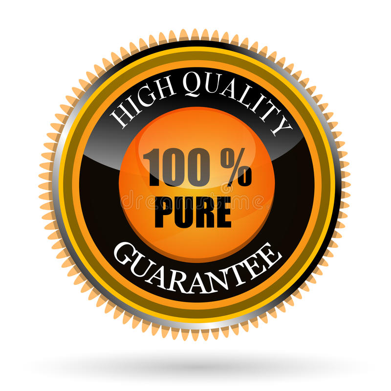 100% pure tag stock illustration