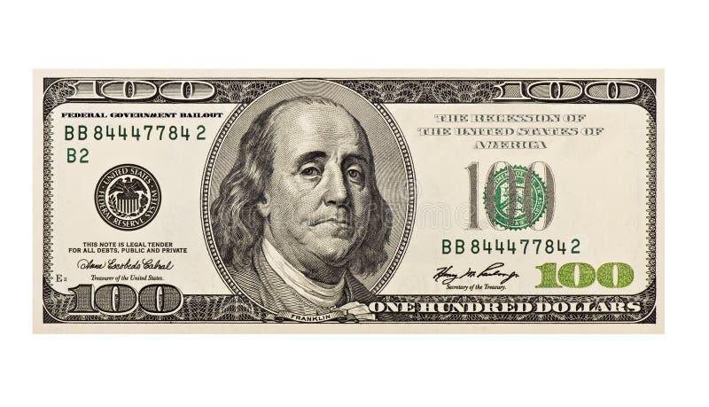 $100 Recession royalty free stock photos