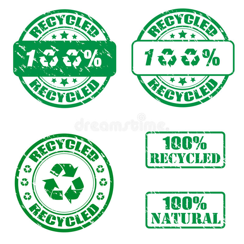 Download 100% recycled stamps stock vector. Image of concept, grunge - 20062001