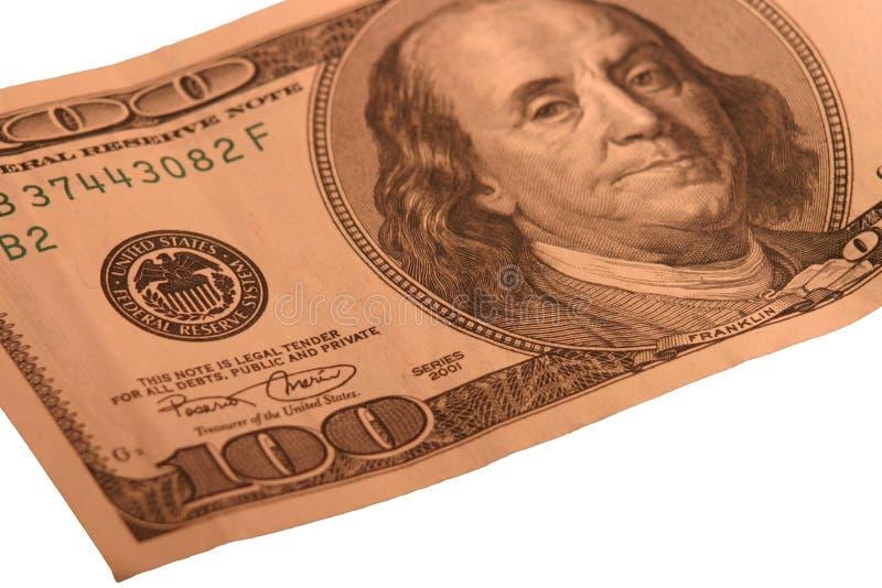 $100 rekening royalty-vrije stock afbeeldingen