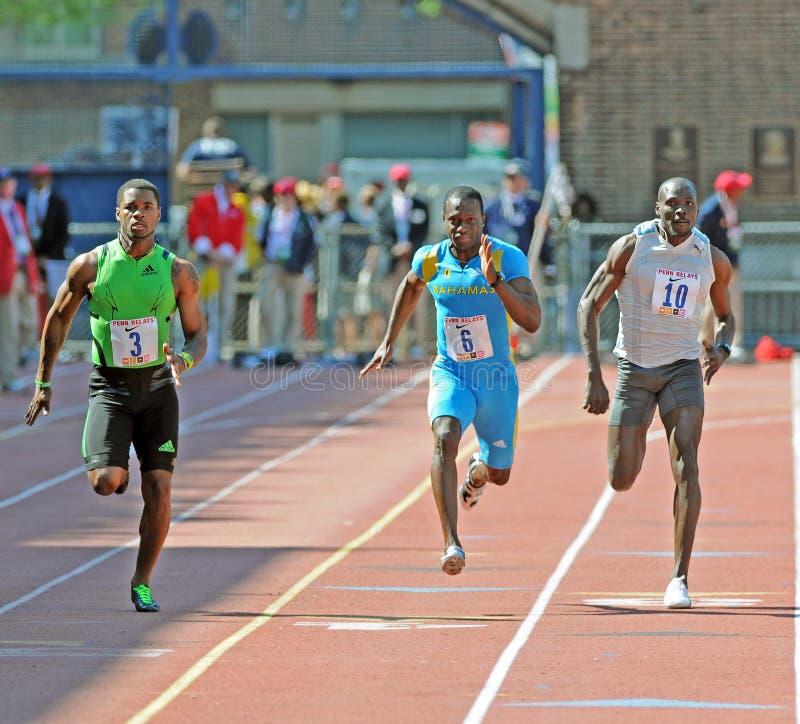 100 relays för penn för streckutvecklingsräkneverk olympic royaltyfria foton