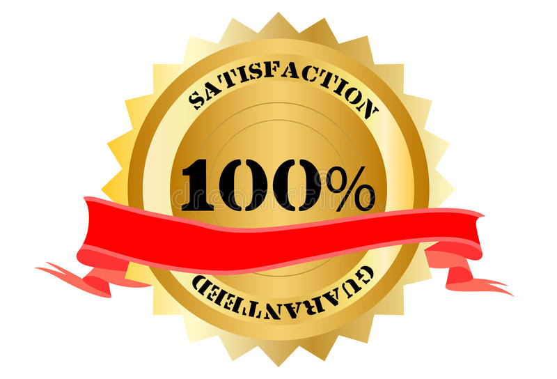 Download 100% Satisfaction stock illustration. Image of guarantee - 20942134