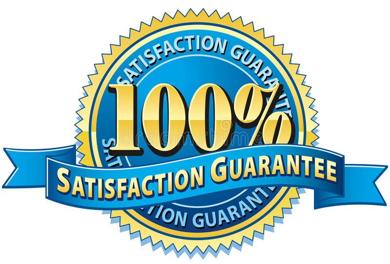 Download 100% Satisfaction Guarantee Stock Vector - Illustration of seal, percent: 6069374