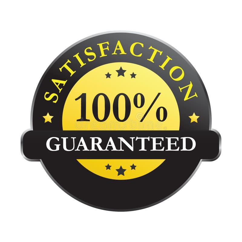 100% satisfaction guaranteed vector illustration