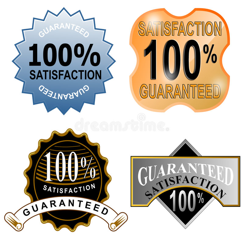 100  Satisfaction Guaranteed Royalty Free Stock Photo