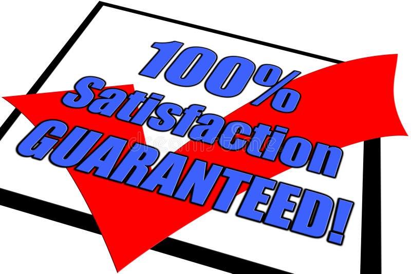 100  Satisfaction Guaranteed Concept Royalty Free Stock Photos