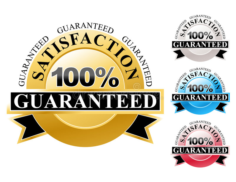 Download 100% Satisfaction Guaranteed Icons Set Stock Vector - Illustration of consumerism, business: 9025087