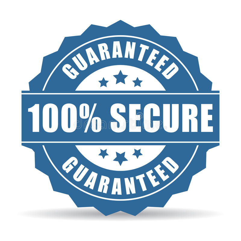 Free 100 Secure Icon Royalty Free Stock Photography - 51433787