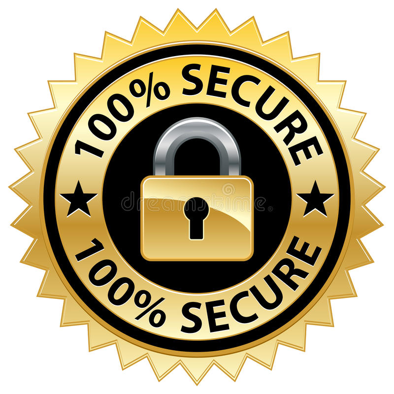 Free 100 Secure Website Seal Royalty Free Stock Images - 18731629