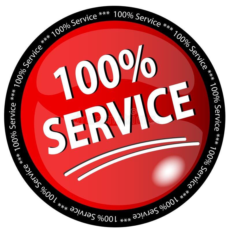 100  Service Button Stock Photo