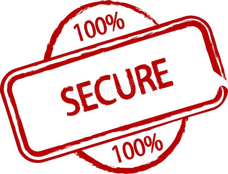 100% sicher lizenzfreie abbildung