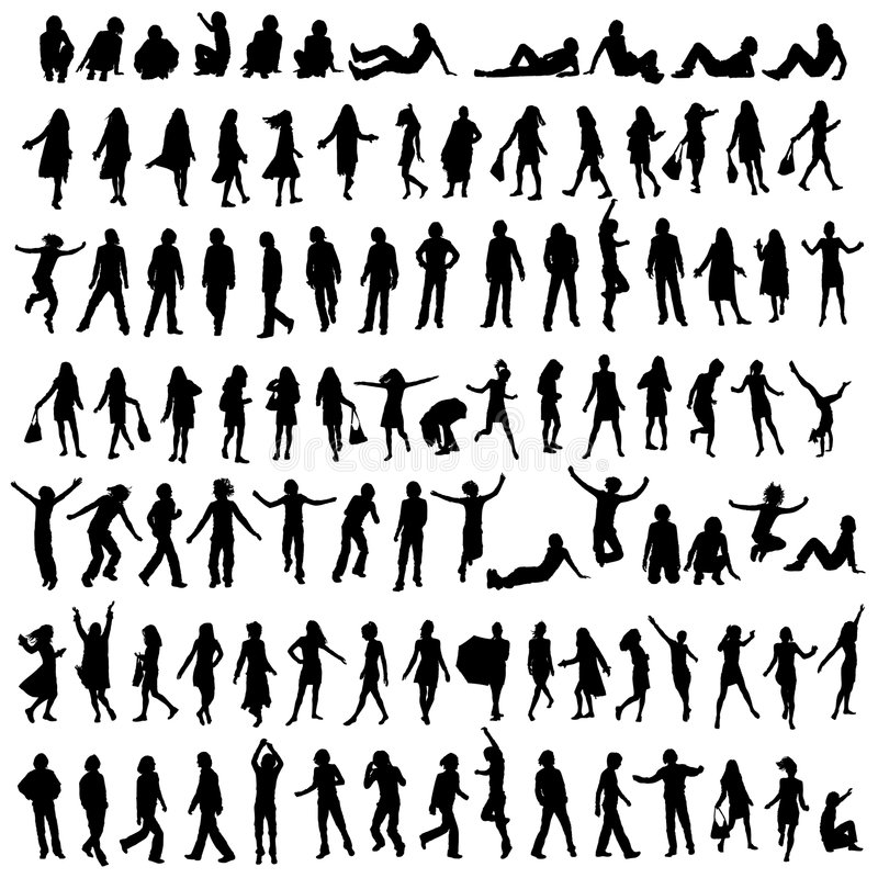 Free 100 Silhouettes Royalty Free Stock Image - 2823146