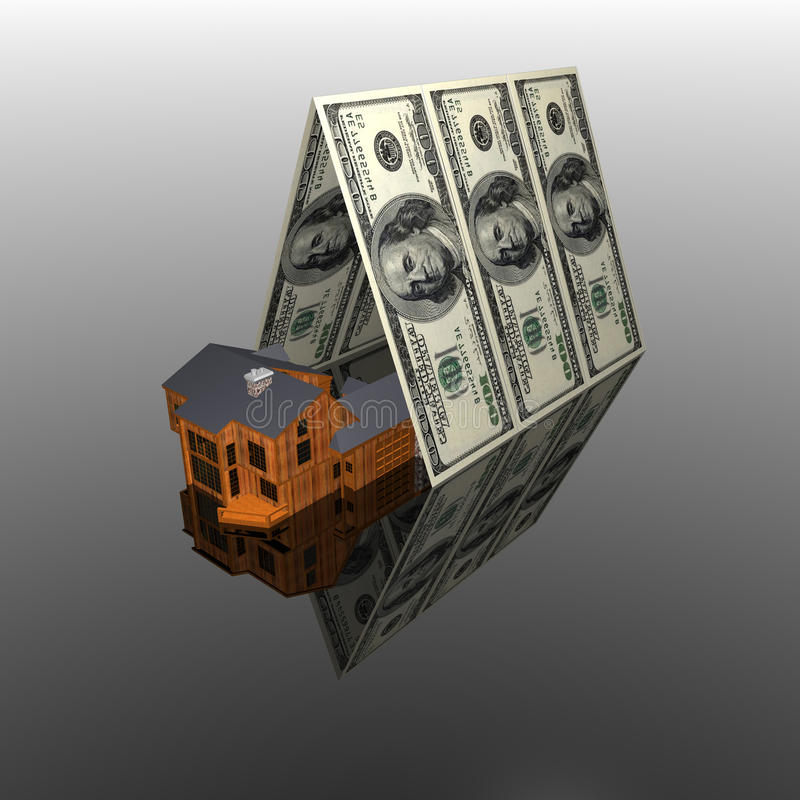 Free 100 Usa Dollars House Roof Stock Images - 9485824