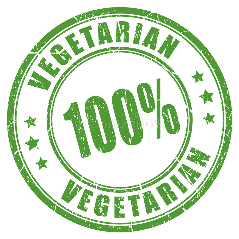 Free 100 Vegetarian Rubber Stamp Stock Image - 82953951