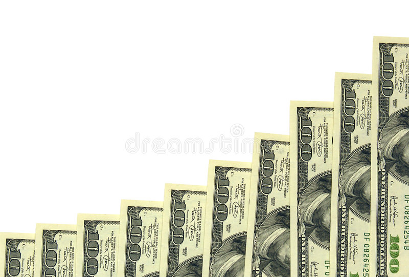 100 wykresów dolarów zdjęcie royalty free