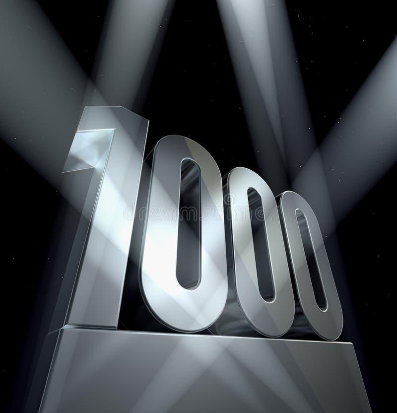 1000 αριθμός ελεύθερη απεικόνιση δικαιώματος