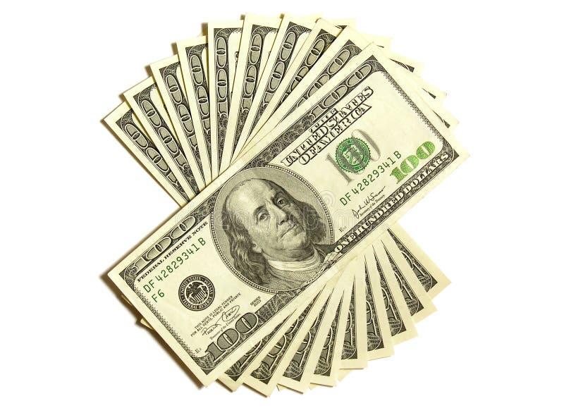 1000 dollars royalty-vrije stock foto