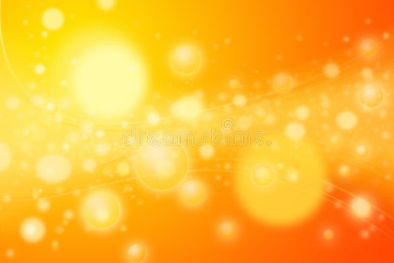1000 estrelas - esferas e curvas alaranjadas quentes da energia imagem de stock royalty free