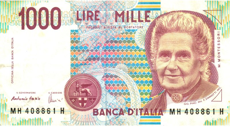 1000 Lires Photo stock