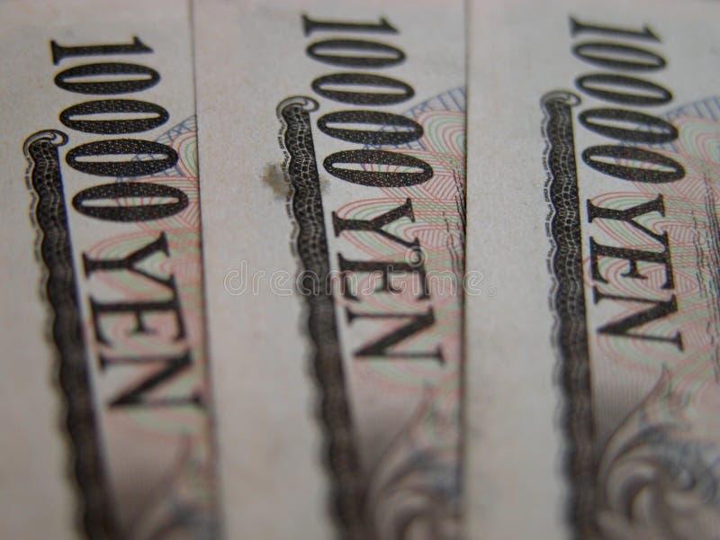 10000 factures de Yens images libres de droits