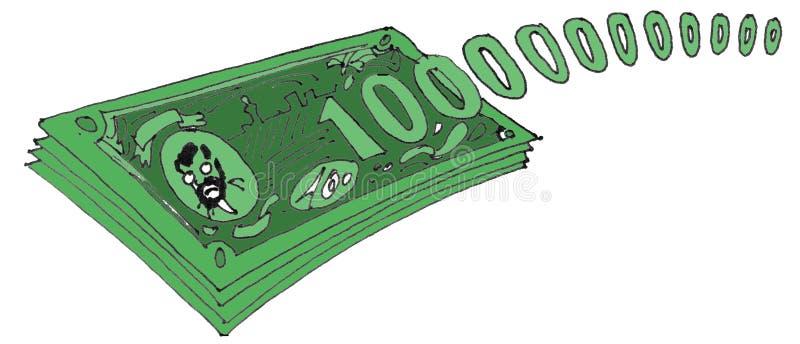 100000000000美元 免版税图库摄影
