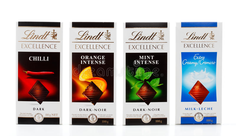 100g преграждает lindt шоколада стоковая фотография rf