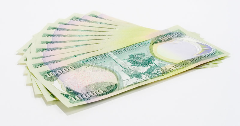 100k Dinars3伊拉克人 库存图片