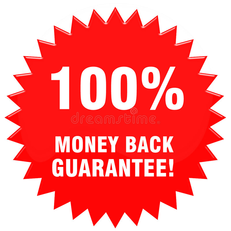100pct moneyback royalty free stock images