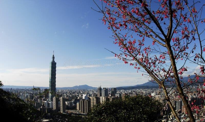 101 budynku sławny drapacz chmur Taipei zdjęcia royalty free