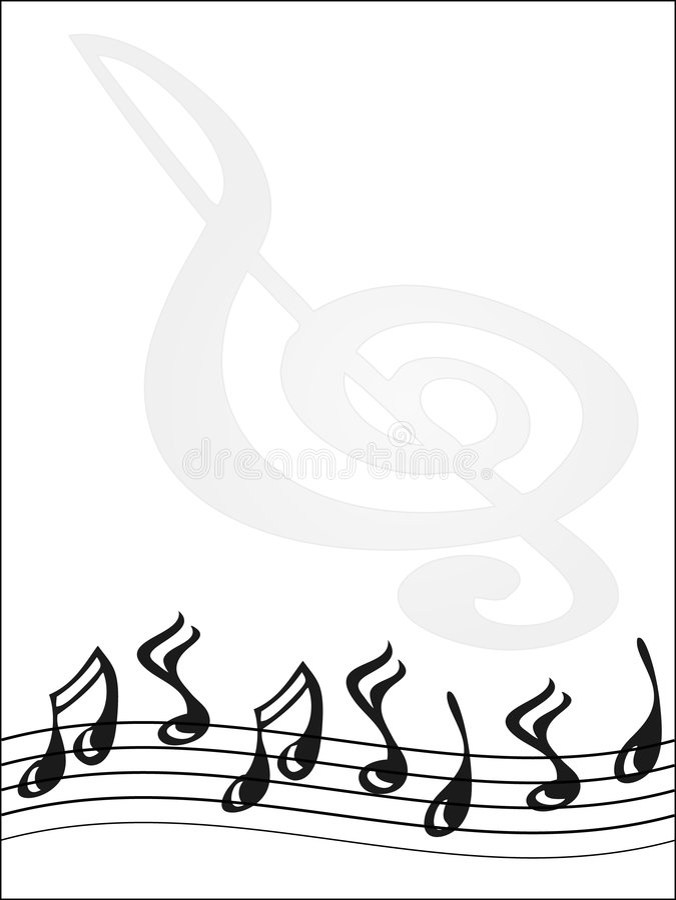 103音乐附注 库存例证