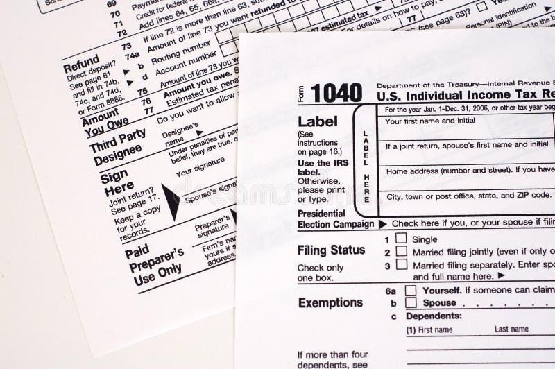 1040份表单税务美国 免版税库存图片