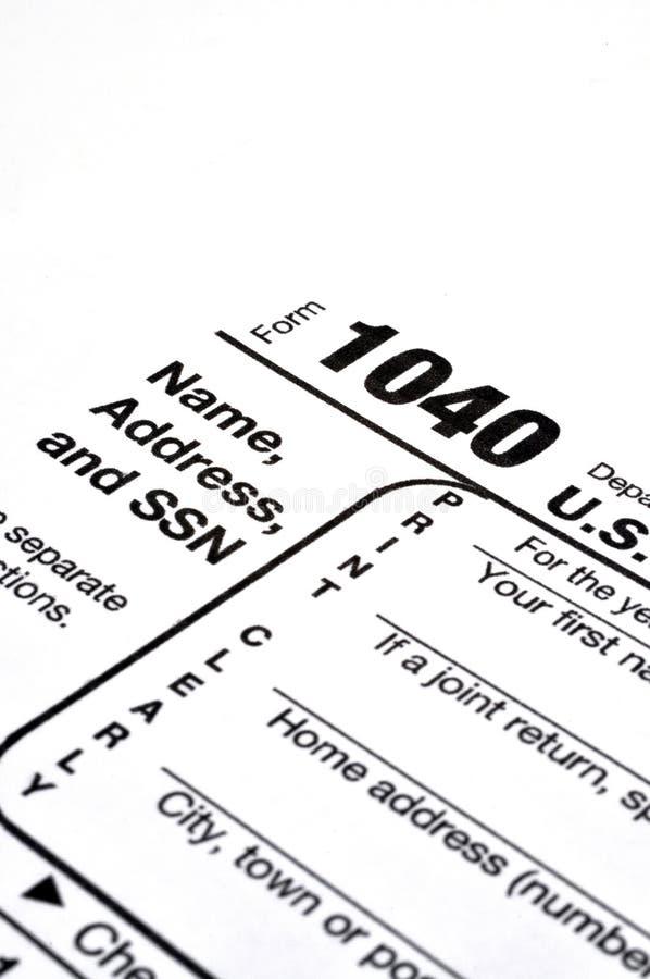 1040份表单税务 库存图片