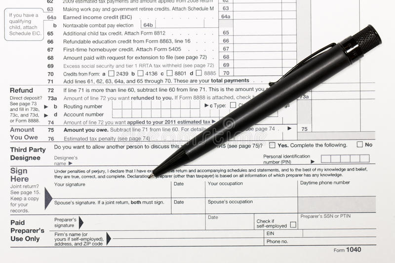 Download 1040 Tax Form stock photo. Image of accountant, april - 14955296