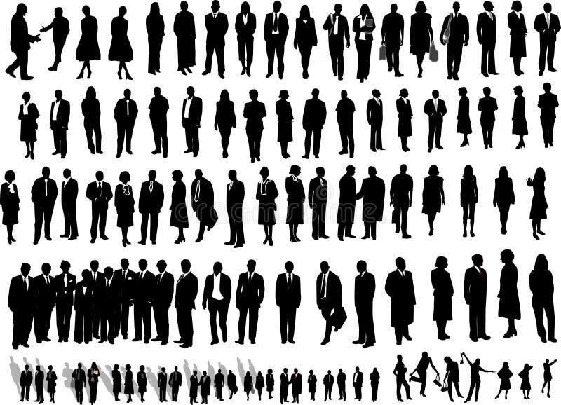 106 affärsfolk royaltyfri illustrationer