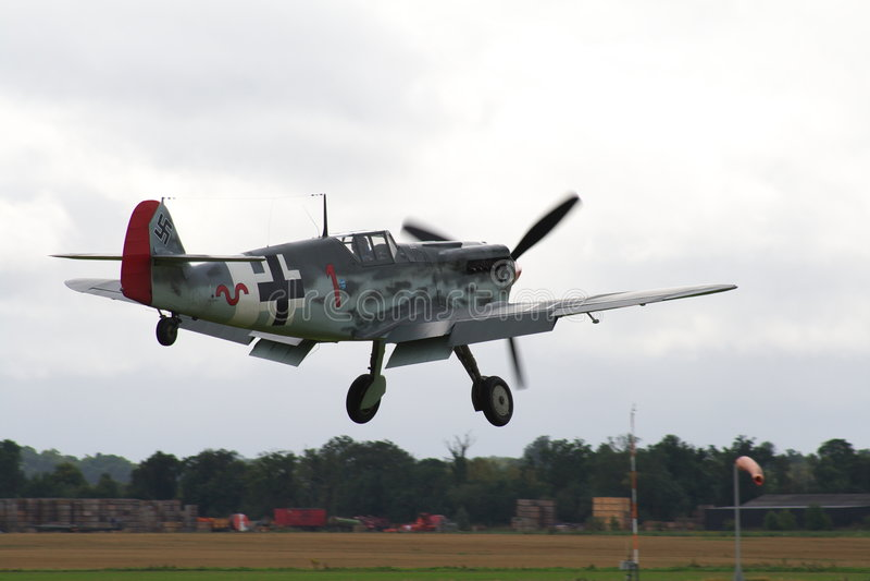 109 bf messerschmitt samolot zdjęcie stock