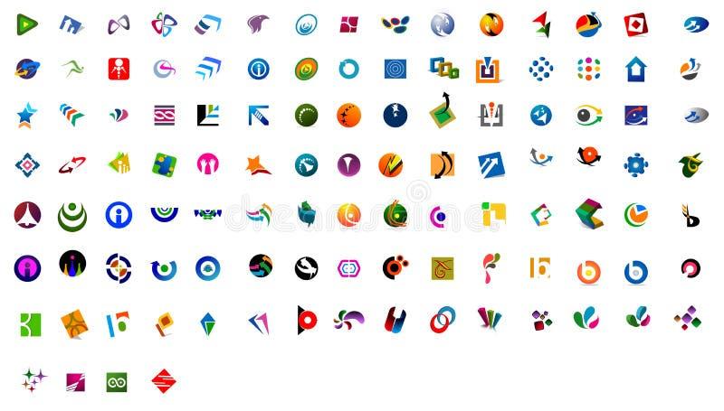 109 logoer moderna nos royaltyfri illustrationer
