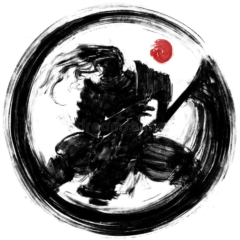 Free 109 Series Of Illustrations With Knights Samurai And Silhouettes Stock Image - 194009391