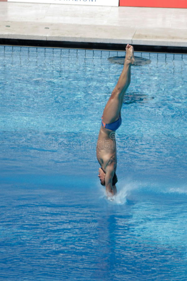 Free 10m Platform Diving At The FINA World Championship Royalty Free Stock Photo - 10260175