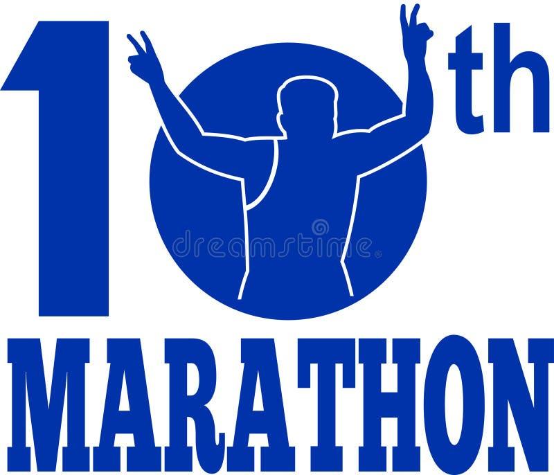 Download 10th Marathon Run Runner Race Stock Illustration - Illustration of victory, running: 17093585