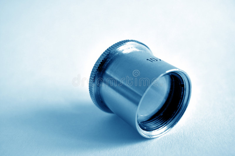 10x - small magnifying glass royalty free stock images