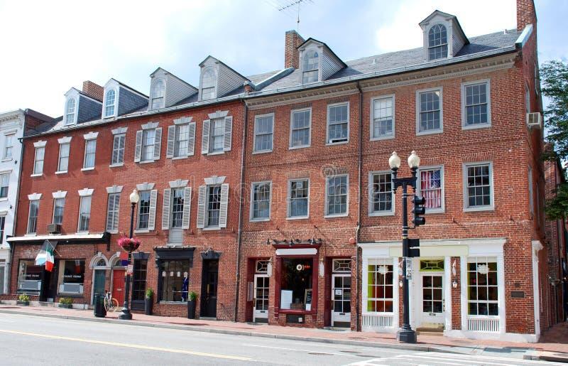 11主要小的街道城镇 库存图片