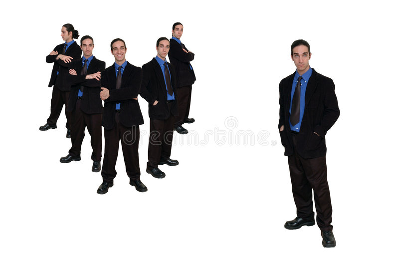 11企业小组 免版税图库摄影